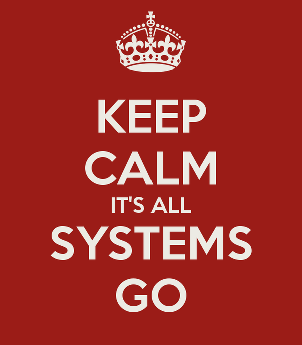 Image result for are all systems go